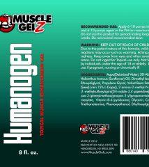 musclegelz Humanogen Label