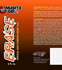 musclegelz ERASE label