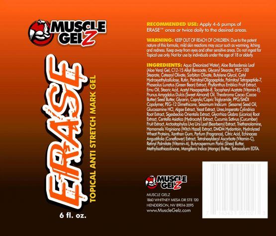 musclegelz ERASE label